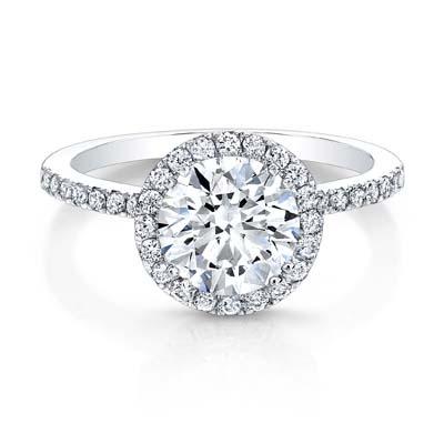 Center of My Universe Round Diamond Halo Ring FM26965
